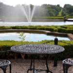 Outdoor cafe table and chairs at Blenheim Palace Garden